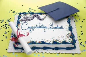 Bake a personalized graduation cake for a reception dessert.