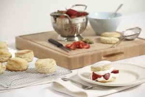 Scones baked with only coconut flour may be denser than their wheat flour counterparts.