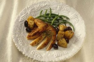 Chicken and potatoes is an easy real-food meal you can cook in the oven.