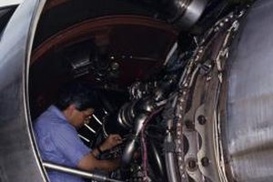 Airline mechanics are responsible for the upkeep of passenger jets.