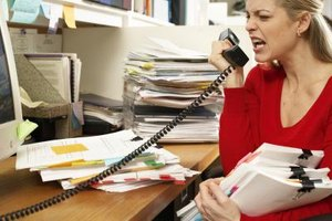 Angry and abusive language is considered midconduct in the workplace.