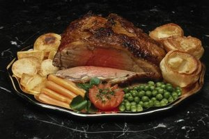 Rib roasts cooked at high temperature have a ring of well-done beef at the edges.