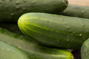 Cucumbers are mostly water, and therefore very low in calories.