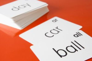 Introduce your toddler to simple sight words with flashcards.