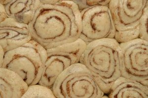 Cinnamon rolls are often allowed to rise overnight.
