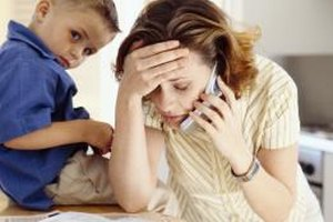 Parenting guilt can result from feelings of being overwhelmed.