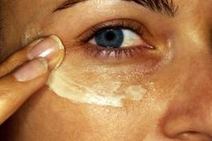 Use a light touch when applying moisturizer around the eyes.