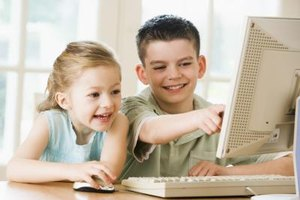 Help your kids to use the computer.