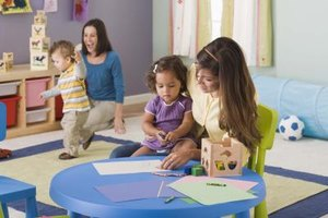 Day care activities should take place in contained rooms away from hazardous materials.