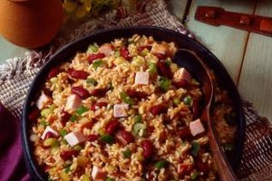 Tasso is a traditional ingredient in Cajun jambalaya.