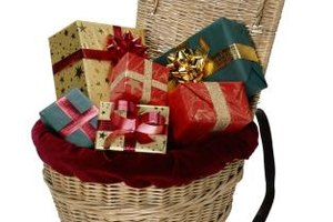 Gift baskets are a creative way to present gifts.