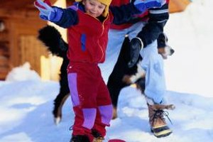 Learning to snowboard can be a fun challenge for kids.