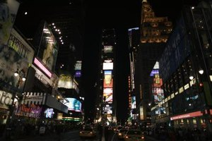 Times Square is a hub of nighttime entertainment for all ages.