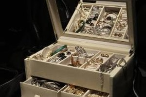 Store fine jewelry in a lined jewelry case.