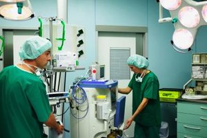 Perioperative nurses and surgical techs are responsible for setting up the operating room.