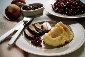 Pair grilled backstrap with cranberries for a sweet contrast against the smokiness of the meat.