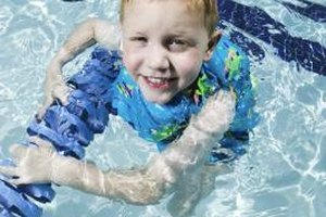 Most swimsuits that help your child float are swim aids rather than personal floatation devices and should only be used under close adult supervision.