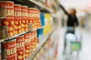 Many canned goods have a long shelf life.