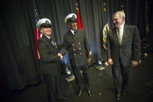 The master chief petty officer of the Navy attends special functions.