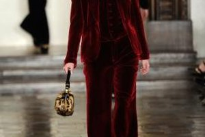 A velvet suit has a dressed up feel that works well at a formal event.