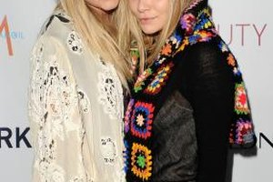 Mary Kate and Ashley Olsen show their BoHo style with delicate lace and colorful knits.