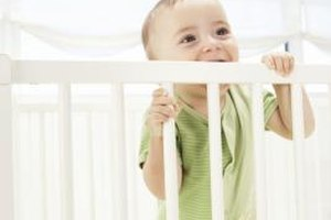 Many babies chew on crib railings to relieve teething pain.