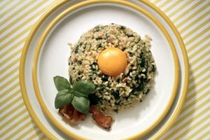 You can serve eggs and brown rice in a number of unique and visually-appealing ways.
