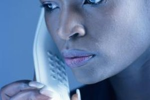 Domestic violence advocates often answer hotline calls for women's shelters.