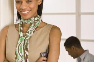 Accessories add interest to a simple work outfit.