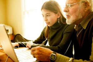 Put your teen's computer skills to work helping a senior learn online lingo.