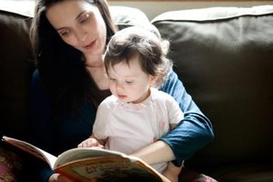 Children with speech delays can get practice hearing word sounds when their parents read aloud to them.