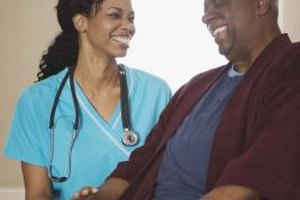 Registered nurses work with patients in a variety of settings.