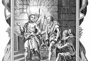 An angel released Saint Peter from prison.