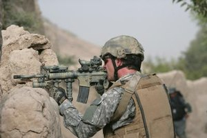 A private military contractor can earn three or four times as much as a regular soldier.