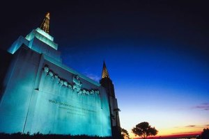 Today's glittering Mormon temples belie the church's humble beginnings.