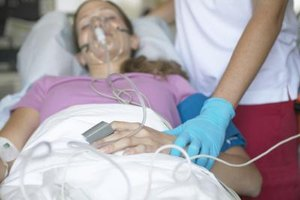 Respiratory therapists administer oxygen and also measure the the oxygen levels in a patient's blood.