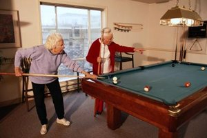 Physical therapists help nursing home residents stay active.