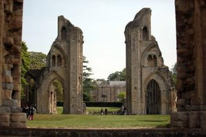 The ruins of Glastonbury Abbey, one of Britain's oldest Christian sites.