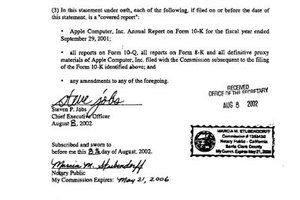 The U.S. Securities and Exchange Commission requires the notarized signature of a company's CEO on its filings.