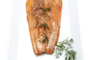 Fresh dill and tender salmon are an ideal pairing.