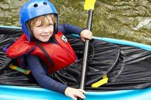 Learn to kayak at the YMCA kayaking camp.