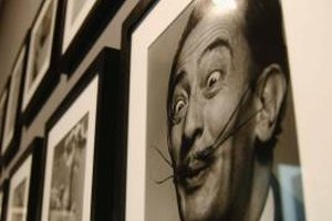 Salvador Dali's moustache was as famous as his paintings.