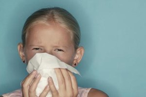 Teach kids to sneeze into a tissue, not their hands.