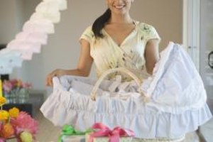Fill a baby bassinet with all your gifts for a new baby.