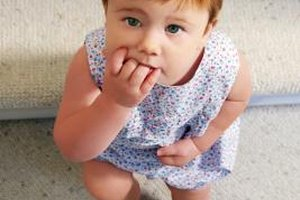 Light bleeding can occur while teething with molars.
