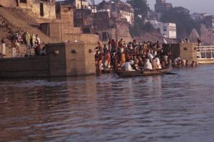Traditionally the family scatters the deceased's ashes in the river Ganges.