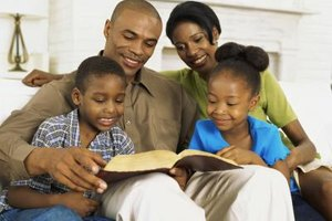 Parents can lead their children in a daily devotional.