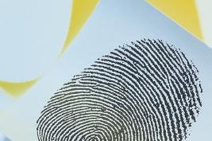 Fingerprints are excellent for identification, since no two are alike.