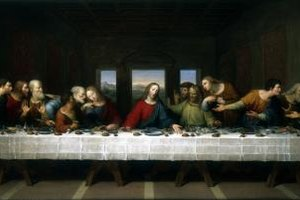 Show a painting depicting the Last Supper as you share the lesson that you prepared.