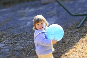 Toddler Activities With Playground Balls